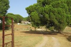 Casa gezien vanaf begin (volledig omheind) terrein